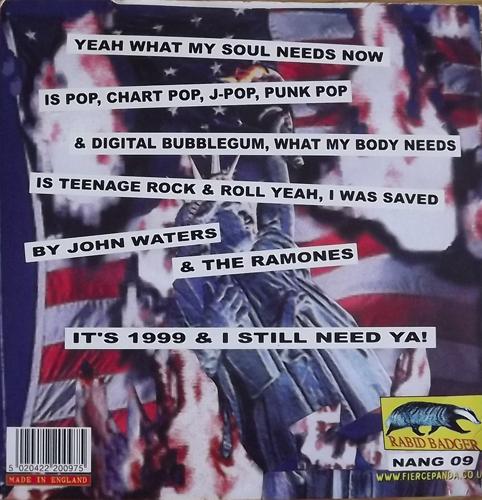 """LOLITA STORM Goodbye America (Rabid Badger - UK original) (VG+) 7"""""""