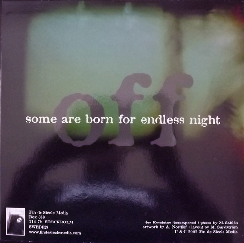DES ESSEINTES On / Off (Fin De Siècle Media - Sweden original) (NM) 7""