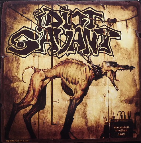 WHO'S MY SAVIOUR/IDIOT SAVANT Turn On, Tune In, Drop Out (Splatter vinyl) (W.I.F.A.G.E.N.A - Germany original) (VG+/EX) LP