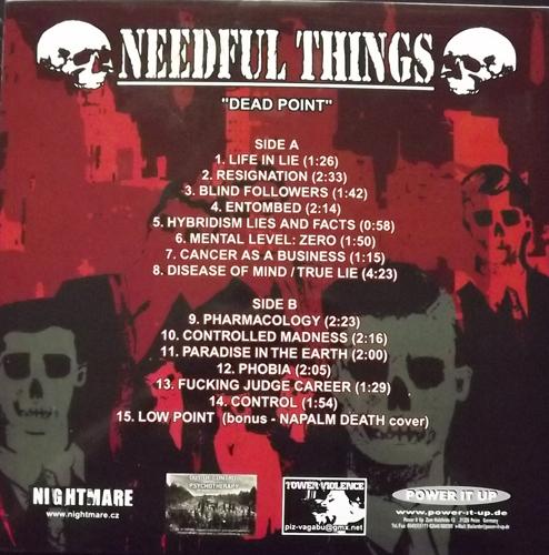 NEEDFUL THINGS Dead Point (Nightmare - Europe original) (EX) LP