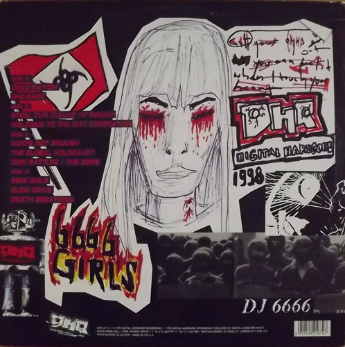 DJ 6666 FEAT. THE ILLEGALS Death Breathing (Digital Hardcore - UK original) (VG+/EX) 2LP