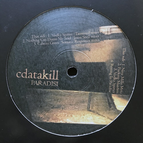 "CDATAKILL Paradisi (Ad Noiseam - Germany original) (EX/NM) 12"" EP"