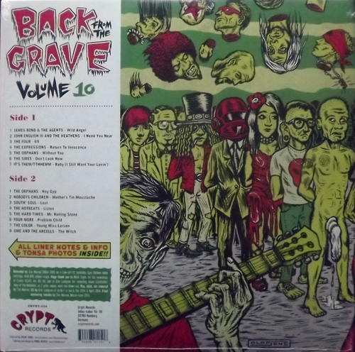 VARIOUS Back From The Grave Volume 10 (Crypt - Germany original) (NEW) LP
