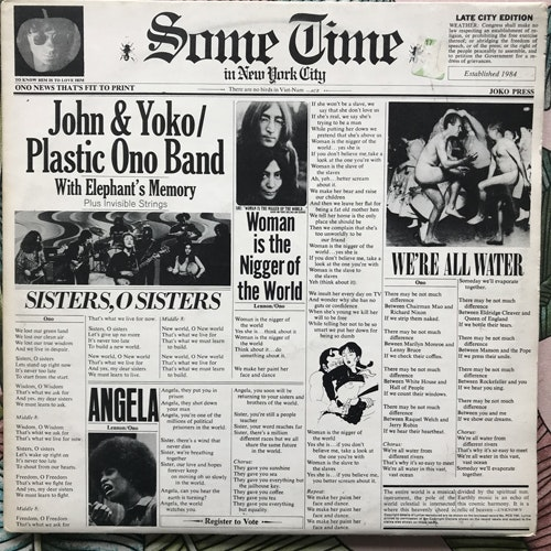 JOHN & YOKO/PLASTIC ONO BAND/ELEPHANT'S MEMORY Some Time In New York City (Apple - UK original) (VG) 2LP