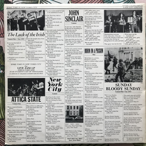 JOHN & YOKO/PLASTIC ONO BAND/ELEPHANT'S MEMORY Some Time In New York City (Apple - UK original) (VG) 2LP