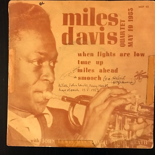 MILES DAVIS QUARTET, the When Lights Are Low (Metronome - Sweden original) (G/VG-) 7""