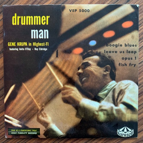 GENE KRUPA FEATURING ANITA O'DAY AND ROY ELDRIDGE Drummer Man (Karusell - Sweden original) (VG+/VG) 7""