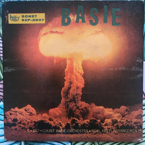 """COUNT BASIE & HIS ORCHESTRA Basie (Blue vinyl) (Sonet - Sweden original) (VG/VG-) 7"""""""