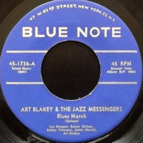 ART BLAKEY & THE JAZZ MESSENGERS Blues March (Blue Note - USA original) (VG) 7""