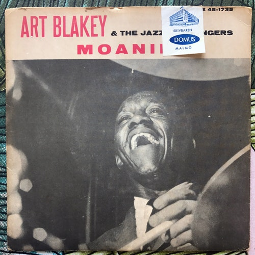 ART BLAKEY & THE JAZZ MESSENGERS Moanin' (Blue Note - Sweden original) (VG) 7""