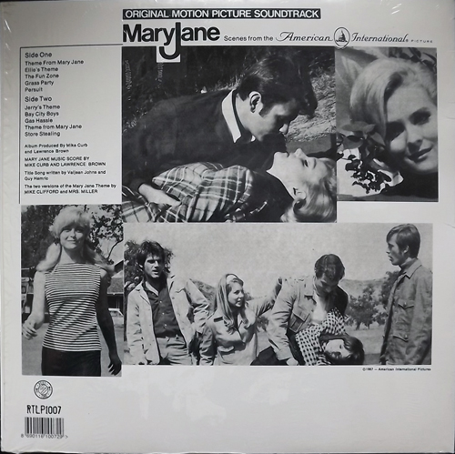 SOUNDTRACK Mike Curb And Larry Brown ‎– Mary Jane (Reel Time - USA reissue) (NM) LP
