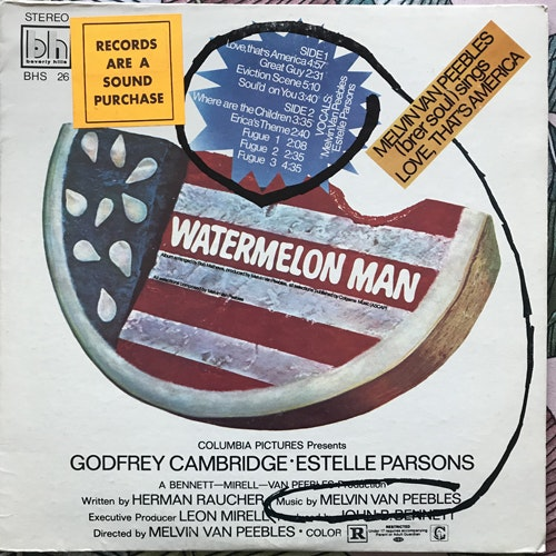 SOUNDTRACK Melvin Van Peebles ‎– Watermelon Man (Beverly Hills - USA Promo original) (VG/VG+) LP