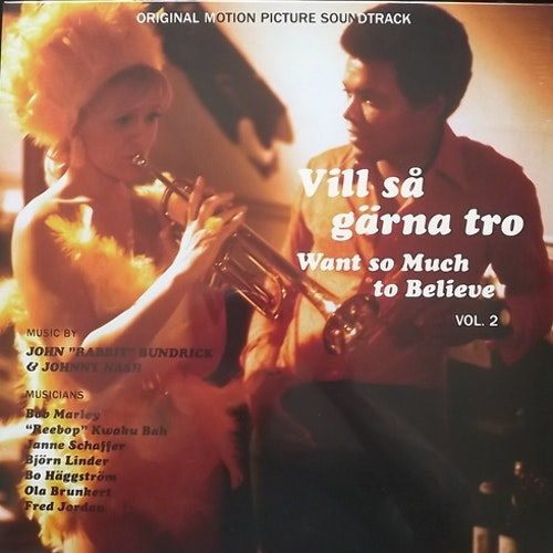"SOUNDTRACK John ""Rabbit"" Bundrick & Johnny Nash ‎– Vill Så Gärna Tro - Want So Much To Believe Vol. 2 (Mellotronen - Sweden original) (SS) LP+DVD"