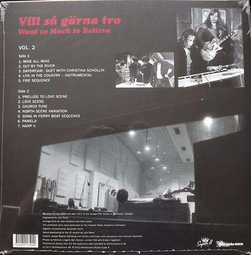 """SOUNDTRACK John """"Rabbit"""" Bundrick & Johnny Nash – Vill Så Gärna Tro - Want So Much To Believe Vol. 2 (Mellotronen - Sweden original) (SS) LP+DVD"""