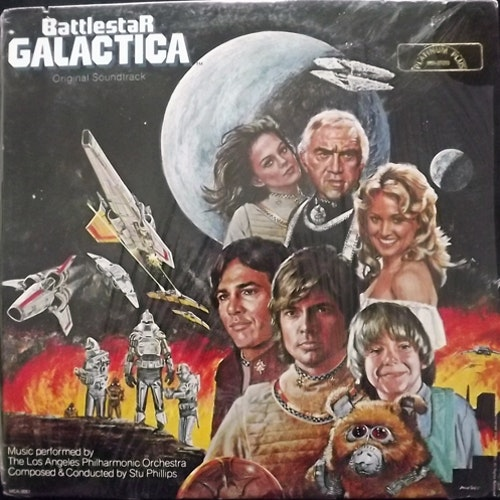 SOUNDTRACK Battlestar Galactica (MCA - USA reissue) (EX/VG+) LP
