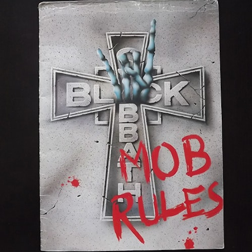 BLACK SABBATH Mob Rules (VG) TOUR PROGRAM