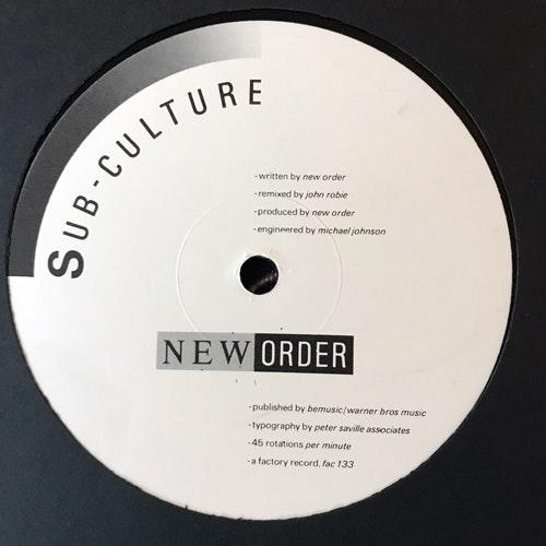 """NEW ORDER Sub-Culture (Factory - UK original) (VG+) 12"""""""