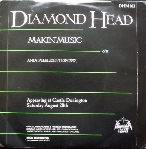 "DIAMOND HEAD Makin' Music (MCA - UK original) (VG+/VG-) 7"""