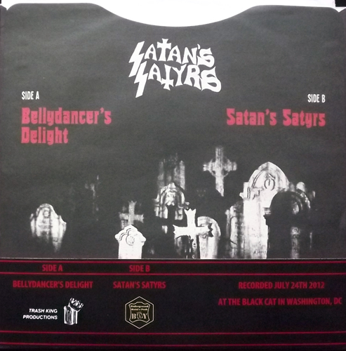 SATAN'S SATYRS Live At The Black Cat (Trash King - Japan original) (NM/EX) 7""