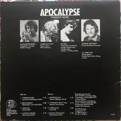 APOCALYPSE Twilight Music (Mood - Germany original) (VG+) LP