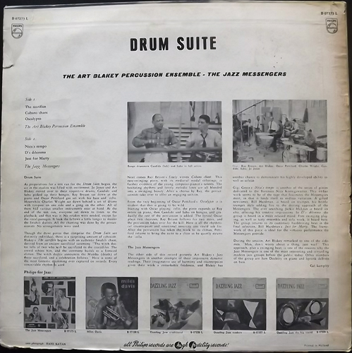 ART BLAKEY AND THE JAZZ MESSENGERS Drum Suite (Philips - Holland reissue) (VG) LP