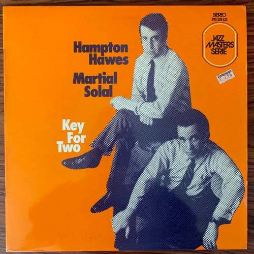 HAMPTON HAWES, MARTIAL SOLAL Key For Two (BYG - France original) (VG+) LP