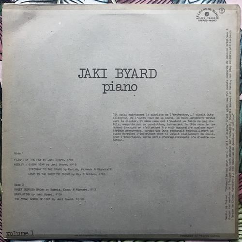 JAKI BYARD Flight Of The Fly (Le Chant Du Monde - France original) (VG/VG+) LP
