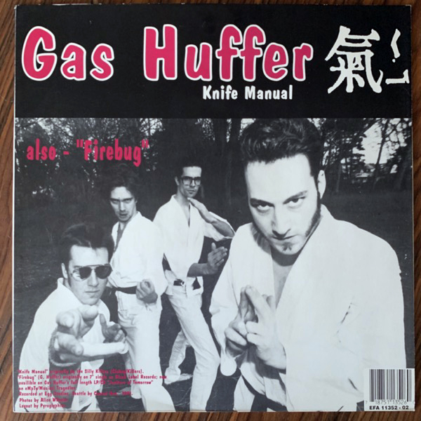 MUDHONEY / GAS HUFFER You Stupid Asshole / Knife Manual (Musical Tragedies - Europe original) (VG+/EX) 12""
