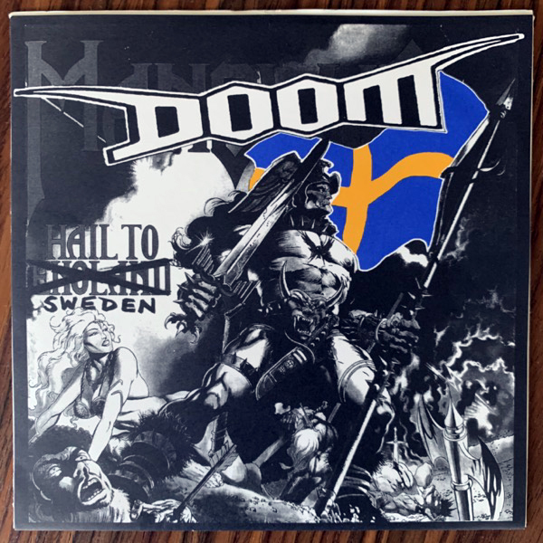DOOM Hail To Sweden (Pandora's Box - Germany original) (EX/VG+) 7""