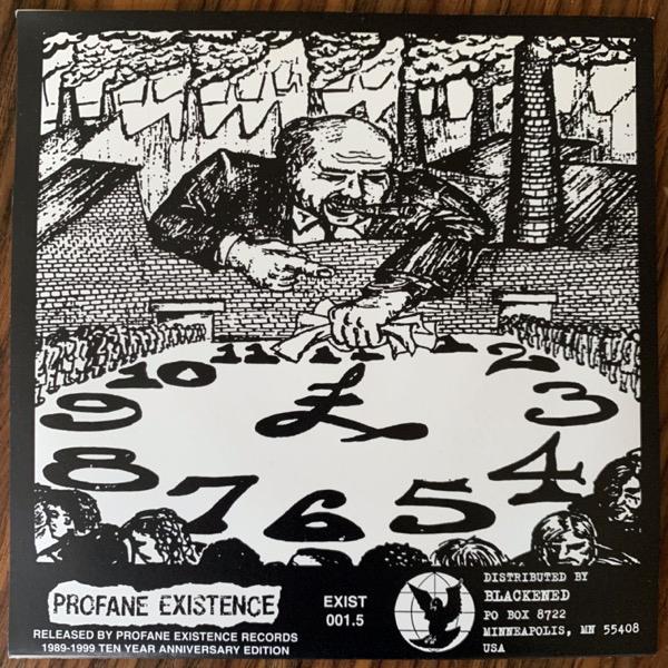 "DOOM Police Bastard (Ten Year Anniversary Edition) (Profane Existence - USA reissue) (EX) 7"""
