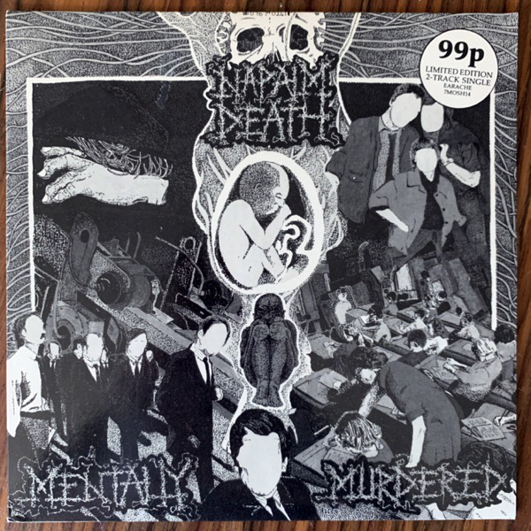 NAPALM DEATH Mentally Murdered (Earache - UK original) (EX) 7""