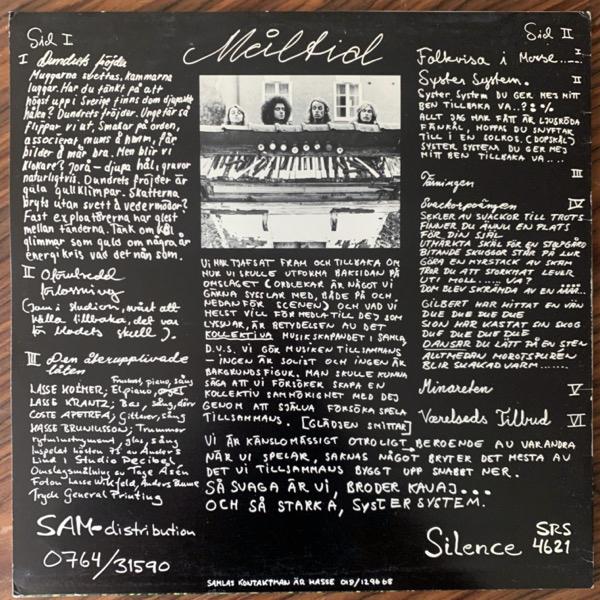 SAMLA MAMMAS MANNA Måltid (Silence - Sweden original) (VG+) (NWW List) LP