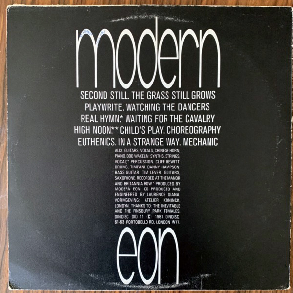 MODERN EON Fiction Tales (Dindisc - UK original) (VG/VG+) LP