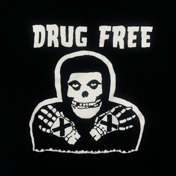 MISFITS / STRAIGHT EDGE Drug Free (S) (USED) T-SHIRT