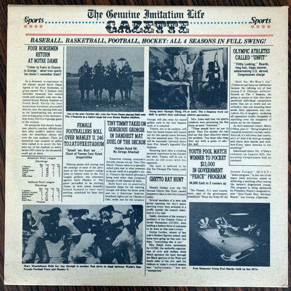 FOUR SEASONS, the The Genuine Imitation Life Gazette (Philips - USA original) (VG+) LP