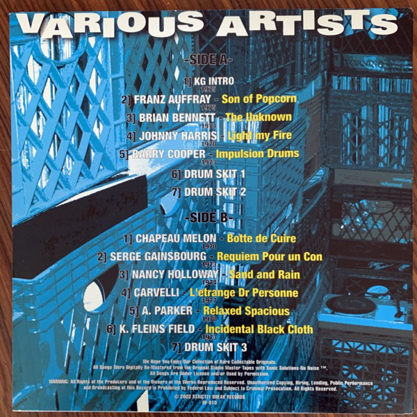 VARIOUS Dusty Fingers Volume Ten (Strictly Breaks - USA original) (EX) LP