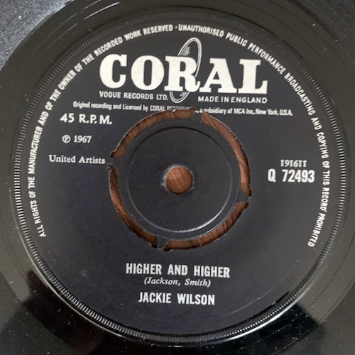 JACKIE WILSON Higher And Higher (Coral - UK original) (VG+) 7""