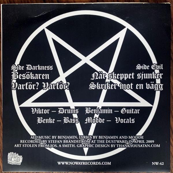 "NITAD Nu Börjar Minnena Komma Tillbaka (Bathory sleeve) (No Way - USA original) (VG+/EX) 7"""