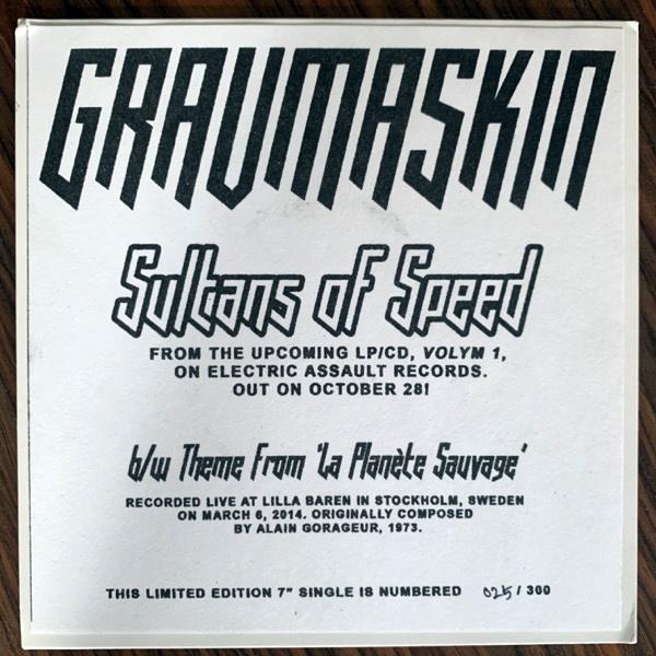 "GRAVMASKIN Sultans Of Speed (Electric Assault - USA original) (EX) 7"""