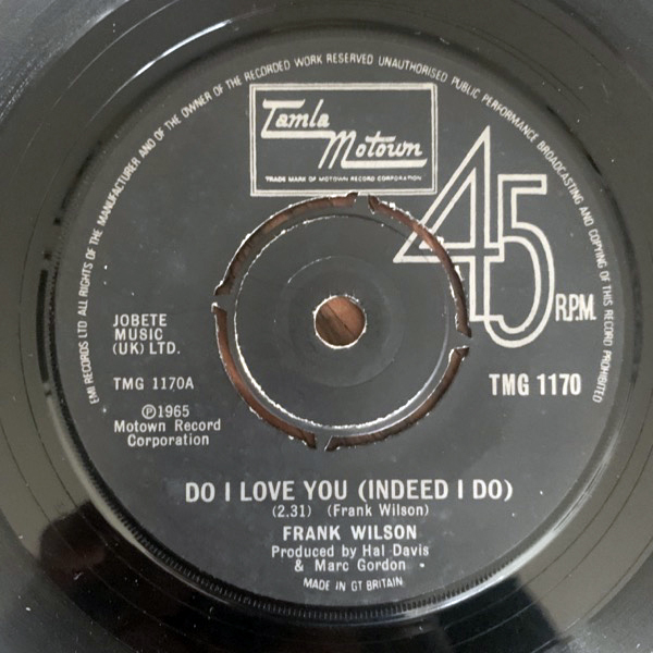 "FRANK WILSON Do I Love You (Indeed I Do) (Tamla Motown - UK 1979 repress) (VG) 7"""