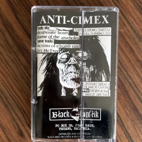 ANTI CIMEX Victims Of A Bomb Raid (Black Konflik - Malaysia reissue) (EX) TAPE