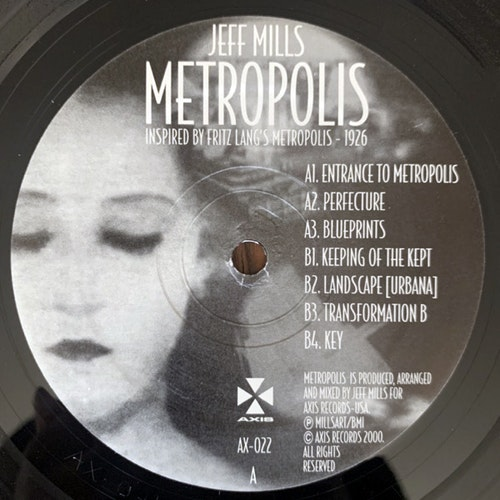 "JEFF MILLS Metropolis (Axis - USA original) (NM/VG) 12"" EP"