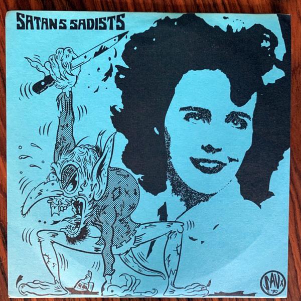 "SATAN'S SADISTS Black Dahlia (Black, red vinyl) (Sympathy For The Record Industry - USA original) (VG+) 2x7"""