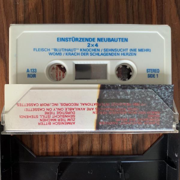 EINSTÜRZENDE NEUBAUTEN 2 x 4 (ROIR-UK - UK original) (EX) TAPE