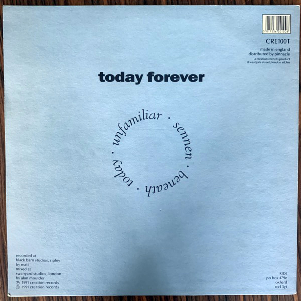 "RIDE Today Forever (Creation - UK original) (VG+/VG) 12"""