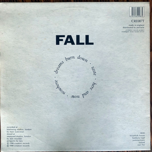 RIDE Fall (Creation - UK original) (EX/VG+) 12""