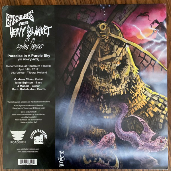 EARTHLESS MEETS HEAVY BLANKET In A Dutch Haze (Purple sky vinyl) (Roadburn - USA original) (VG+/EX) 2LP