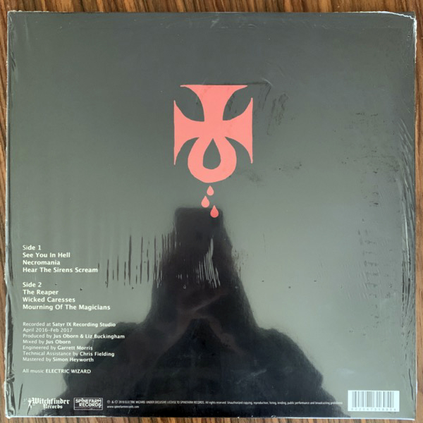 ELECTRIC WIZARD Wizard Bloody Wizard (White, red splatter vinyl) (Witchfinder - Europe RSD repress) (NM) LP