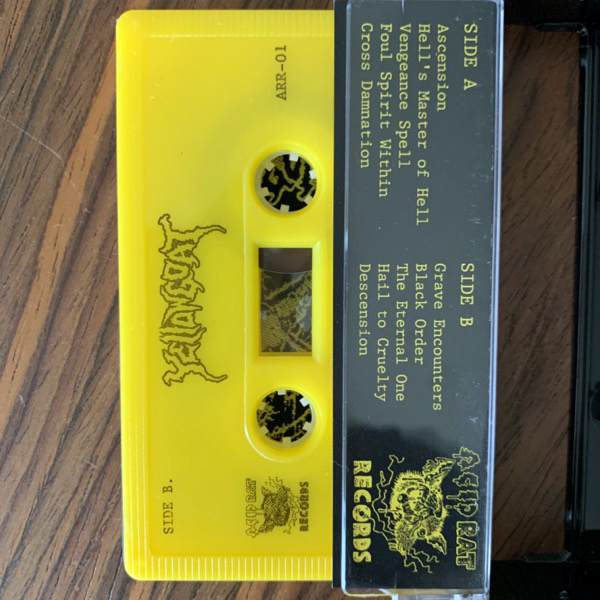 JOEL GRIND The Yellowgoat Sessions (Yellow cassette, witch patch) (Ljudkassett - Sweden original) (NM) TAPE