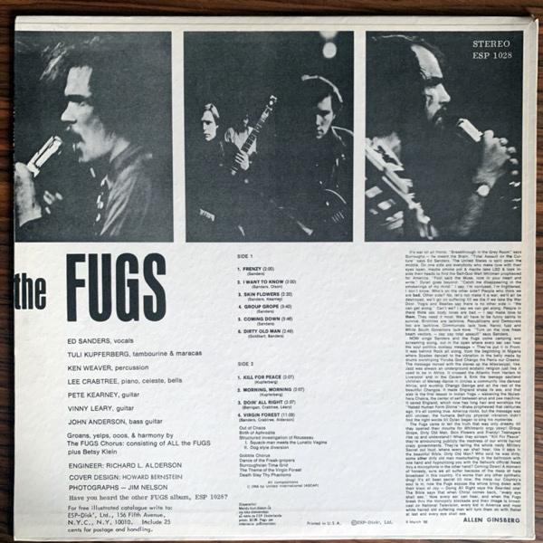 FUGS, the The Fugs (ESP Disk - USA 1967 repress) (EX) LP